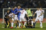 بالفيديو ... (علم) يفجر الاشتباك بين لاعبي صربيا وألبانيا