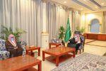 أمير الجوف يستقبل مدير فرع الإفتاء بمناسبة ترقيته للمرتبة الخامسة عشرة
