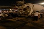 بالفيديو.. اتلاف 13 مركبة واصابة 7 أشخاص بالرصيفة بسبب تعطُّل مكابح شاحنة
