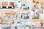 مدير تعليم القريات يتفقد مدرستي ثانوية أحمد بن حنبل والملك فيصل