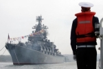 سفن الأسطول الروسي تدخل ميناء الإسكندرية المصري