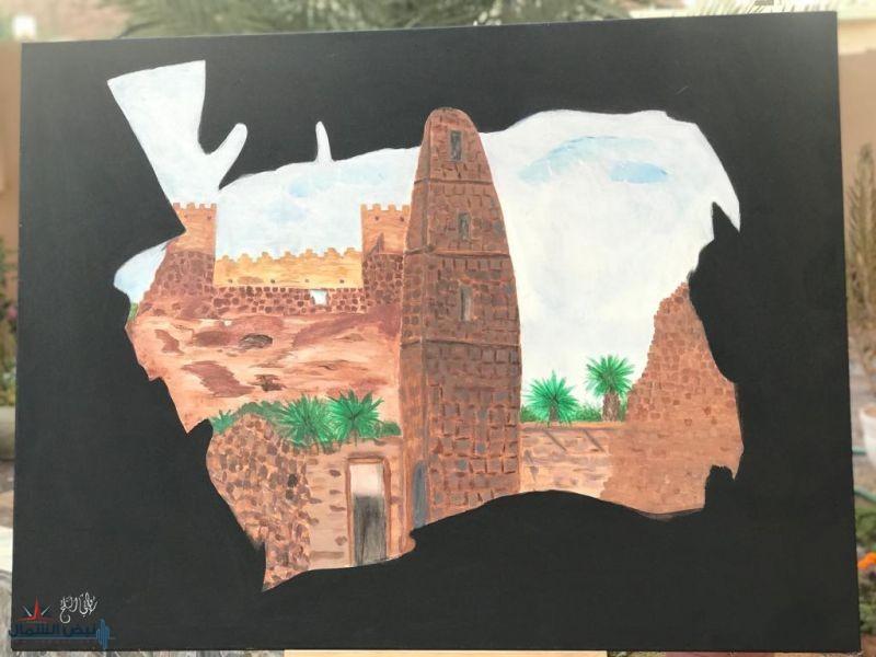 بريشة الفنانة التشكيلية روابي الثلج